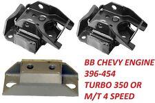 68-72 Chevelle Engine Mounts Kit 68-72 Camaro Motor Mounts 4speed or 350 Turbo