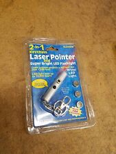 New 2  in 1 keychain laser pointer bright LED flashlight