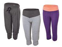 (R24) CRIVIT Sport Damen Funktionscapri Laufhose Fitnesshose Capri Hose kurz NEU