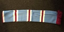 Sky Blue White and Claret bars Football Scarf West Ham United WHUFC Burnley BTFC