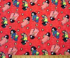 Rare Michael Miller Fabric Keiko Little Japanese Girls in Kimonos OOP BTHY