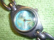 Vintage FG Lady Faded Glory Quartz Watch Wristwatch Green Butterfly +New Battery