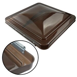 """1 RV Roof Vent Cover Replacement Lid Motorhome Camper RV Trailer Smoked 14"""" x14"""""""