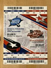 2011 NHL All-Star Game & Skills Full Tickets Not Separated. Patrick Sharp MVP