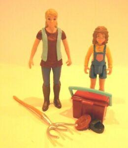 Nr.1204)  Schleich  Bäuerin mit Mädchen Schleichtier Menschen