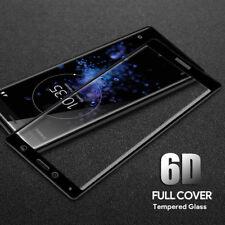 6D Curved Tempered Glass Screen Protector For Sony Xperia XA1 XA2 XZ1 XZ Premium