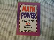 MATH POWER How to Get A's in Math Denise Bieniek SC book solve math problems