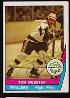 Tom Webster #55 signed autograph 1977-78 O-Pee-Chee Hockey Trading Card
