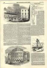 1845 Hutchison mercado Aldgate nuevo Bautista capilla Leicester Ferrocarril Mania