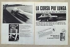 E494-Advertising Pubblicità-1967-SHELL SUPER MOTOR OIL SU FERRARI