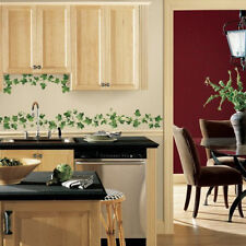 PAINTERLY EVERGREEN IVY wall stickers 14 decals room decor leaves kitchen vines