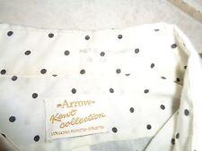 60s L Tag VTG Arrow Sanforized Plus Kent collection polka dot shirt Rockabilly