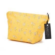 Algodón de impresión Margarita único Hecho a Mano Amarillo Edición limitada Bolsa de Cosméticos. UCB22