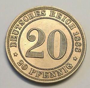 20 Pfennig 1888 A Stempelglanz / unc.  *ERHALTUNG*
