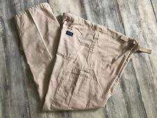 Cherokee Workwear Scrub Cargo Pants Style 4100 Beige Unisex Fit Size S