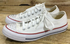 Converse M7652 Chuck Taylor Unisex Size M5/W7 White Low Optic Toe Crystal Shoes