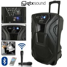 "QTX Busker 15 Portable USB Bluetooth DJ Band Karaoke 15"" PA Speaker System"