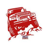 JEEP ROCK CRAWLER vinyl sticker OFFROAD OFF ROAD MUD  DIRTY 4x4 Truck I LOVE MUD