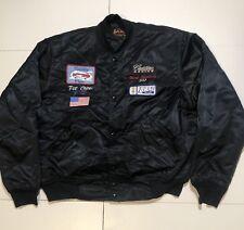 vintage 1992 Rare Cadillac pit Crew / Connor Racing   silk bomber jacket XL!