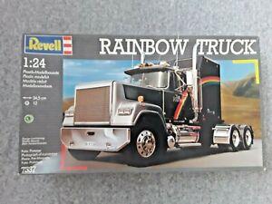 REVELL  RAINBOW TRUCK  (1991) SEMI  7537  1/24 MODEL KIT