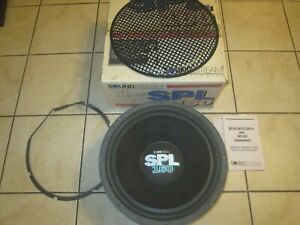SOUNDSTREAM SPL160 DUAL VOICE COIL SUBWOOFER 8 / 2OHM MADE IN USA