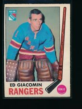 1969-70 O-Pee-Chee #33 Ed Giacomin With Stamp On Back