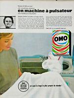 PUBLICITÉ DE PRESSE 1963 LA LESSIVE OMO DÉTACHE BLANCHIT ASEPTISE