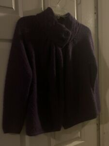 Ann Taylor Loft XS Petite Purple Wool Suit Jacket W/ 2 Buttons At The Top