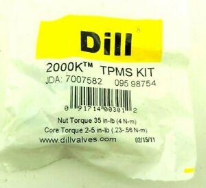Lot of 2 Dill 2000K TPMS Valve Stem Service Kit- Acura Honda Hyundai Kia Sensors