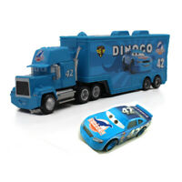 Cars 3 Toys 42# Cal Weathers Mack Hauler Truck & Racer Metal Toy Car 1:55 Loose