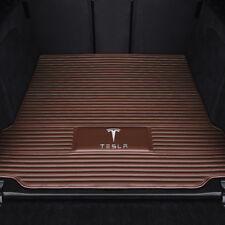 Alfombras tapices Tesla Model S 85 D Sport tuning accesorios gamuza negro alfombra coche 3x