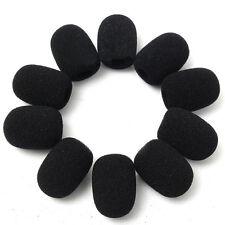 10 x8MM Black Microphone Headset Windscreen Grill Foam Mic Cover Sponge Foam New