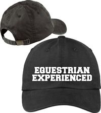 Equestrian Experienced Baseball Cap Horse Lovers Hat with Soft Feel Lettering.