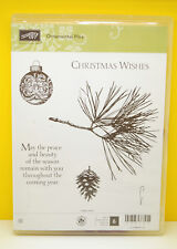 RETIRED Stampin up Ornamental Pine Pine Christmas Wishes Holiday Peace Season