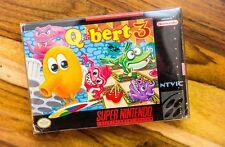 Qbert 3 Super Nintendo Entertainment System 1992 SNES CIB Complete Box Manual