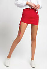 New Ruched Side Mini Skirt - Red - SMALL - Sexy Clubwear Party Cocktail