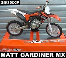 KTM SXF 350 - 1:12 Die-Cast Motocross Mx Motocicleta Modelo Juguete New Ray