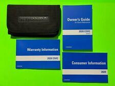 New listing 2020 Honda Civic Sedan Factory Owners Manual Guide Set & Case *Oem*