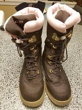 WOMENS NOEMI C9 BROWN PINK WINTER SNOW BOOTS SZ 4 COMFORTABLE INSULATED LINING