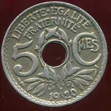 5 centimes  LINDAUER 1920 ( petit module )  ( TTB )