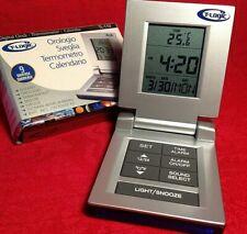 T-LOGIC orologio digitale sveglia termometro calendario da viaggio o scrivania