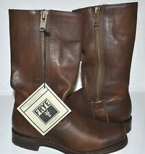 FRYE Heat Outside Zip Women's Leather Maple Boots Size 8 NIB