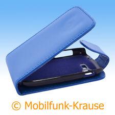 Flip Case Etui Handytasche Tasche Hülle f. Samsung Galaxy Pocket Neo Duos (Blau)