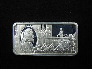 1000 Grains Sterling Silver Ingot Bar 1000 Years of British Monarchy CHARLES I