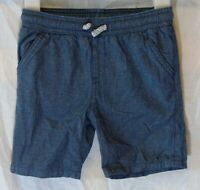 Boys Matalan Blue Grey Cotton Drawstring Waist Smart Shorts Age 3-4 Years