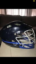 Cascade R Lacrosse Helmet Navy and Royal Used. Good condition! White Pearl Mask
