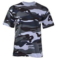 MFH Herren US T-Shirt Rundhals Halbarm Baumwolle TARN SHIRT Sky Blue Camo