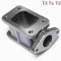 T3 To T3 Turbo Flange Adapter Extension & 38mm Wastegate Port Cast Iron Manifold