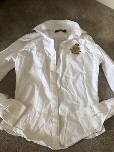 Ladies White Ralph Lauren Shirt Size 8 / S