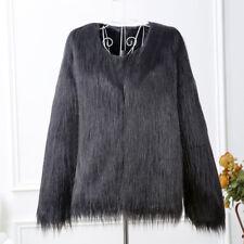 Luxury Winter Warm Faux Fur Jacket Tops Coat Outwear Cardigan Overcoat Parka